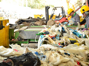 Folienrecycling bei Machaon Recyclage de Plastiques nahe Reims (Foto: Machaon)
